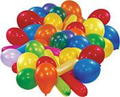 50 Latexballons Standard sortiert