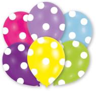 6 Latexballons Globaldruck Polka 27,5 cm / 11''