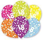 6 Latexballons Globaldruck 18 27,5 cm/11''