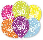 6 Latexballons Globaldruck 50 27,5 cm/11''
