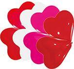 10 Latexballons Herzen klein, sortiert