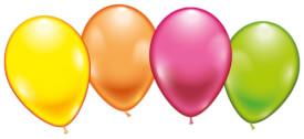Ballons rund neon 8 Stück, Umfang 75-80 cm