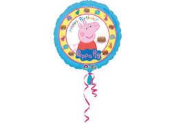 Standard Peppa Pig Happy Birthday Folienballon rund S60 verpackt 43cm