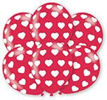 6 Latexballons Herzen