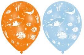6 Latexballons Ocean Buddies Globaldruck 27,5 cm/11''