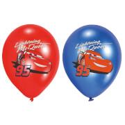 6 Latexballons Cars vierfarbig bedruckt 27,5 cm