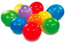 25 Latexballons Standard sortiert 25,4 cm/10''