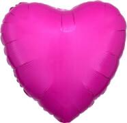 Standard Helles Bubble Gum Pink Folienballon Herz, S15, verpackt, 43cm
