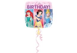 Standard HBD - Disney - Prinzessinnen Folienballon Quadrat, S60, verpackt, 43cm