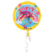 Standard Trolls Folienballon, rund, S60, verpackt, 43 cm