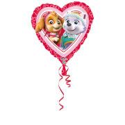 Standard Paw Patrol Pink - Love Folienballon Herz, S60, verpackt, 43 cm