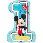 SuperShape Micky - 1st Birthday Folienballon, P38, verpackt, 48 x 71cm