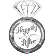 SuperShape Happily Ever After - Ring Folienballon, P35, verpackt, 45 x 68 cm