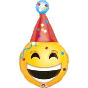 SuperShape Emoticon - Party Hut Folienballon, P30, verpackt, 55 x 99 cm