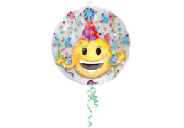 Insider Emoticon - Party Hut Folienballon, P60, verpackt, 60 x 60cm