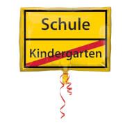 Junior Shape Schulanfang - Schild Folienballon, S50, verpackt, 43 x 30 cm