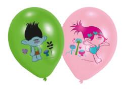 6 Latexballons Trolls 27,5 cm/11