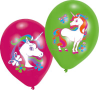 6 Latexballoons Unicorn 27,5 cm / 11''