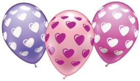 Ballons Sweet Heart 6 Stück, Umfang 90-100 cm