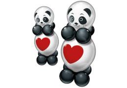 Ballon-Set Funny Panda für 2, 20-teilig