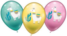 Ballons Lama 6 Stück, Umfang 90-100cm