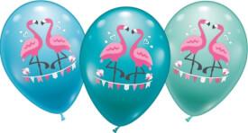 Ballons Flamingo, 6 Stück, Durchm.: 30 cm