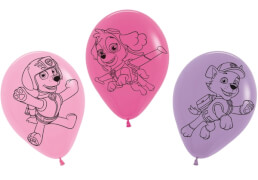 Luftballons Paw Patrol pink und lila s