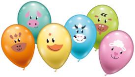 Ballons Animal Smile 6 Stück, Umfang 90-100cm