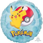 Standard Pokemon Folienballon Rund , S60, verpackt,