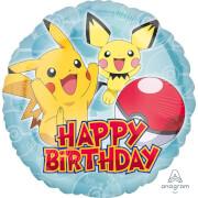 Standard Pokemon HBD Folienballon Rund , S60, verpackt,