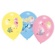 6 Latexballons Be a Mermaid 28cm/11 4C