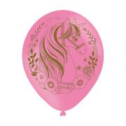6 Latexballons Magical Unicorn Globaldruck 27,5 cm / 11''
