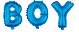 Folienballon Schriftzug BOY blau 80cm
