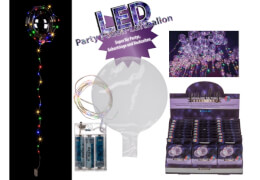 LED Party Folienballon, bunt