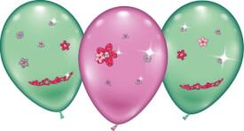 4 Ballons ''Flower Jewels''