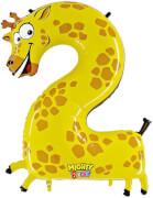 Zahl 2 Giraffe 102 cm / Number 2 Giraffe 40''