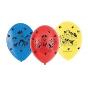 6 Latexballons Paw Patrol 23cm