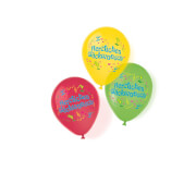 6 Latex Ballons Herzlichen Glückwunsch 11''