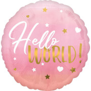 Standard HX Pink Baby Girl Folienballon S40 verpackt