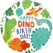 Standard Dino-Mite Party Folienballon rund S40 verpackt