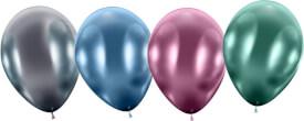 Ballons maxi Glossy metall bunt 4 Stück