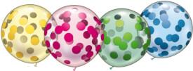 Riesen-Kristallballons Konfetti 4 Stück