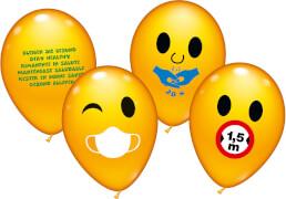 Ballons rund 30 Stück sortiert mit Corona Tipps