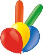 Luftballons, gem. Farben, Formen und Größen, 25 St./SB-Btl.