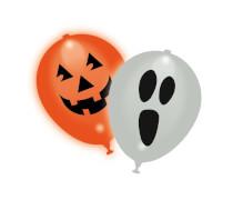LED-Luftballons ''Halloween'', weiß/orange, 5 St./SB-Btl.