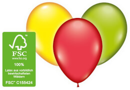 Ballons rund 12 Stück # 33cm biologisch abbaubar FSC-zertifiziert
