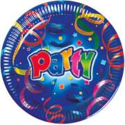 Party Streamers Teller 8 Stück ca. 23 cm