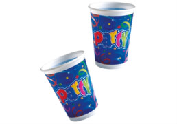 Party Streamers Becher 8 Stück, 200 ml