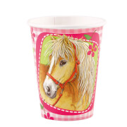 8 Becher Charming Horses 266 ml