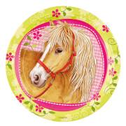 8 Teller Charming Horses 23 cm
